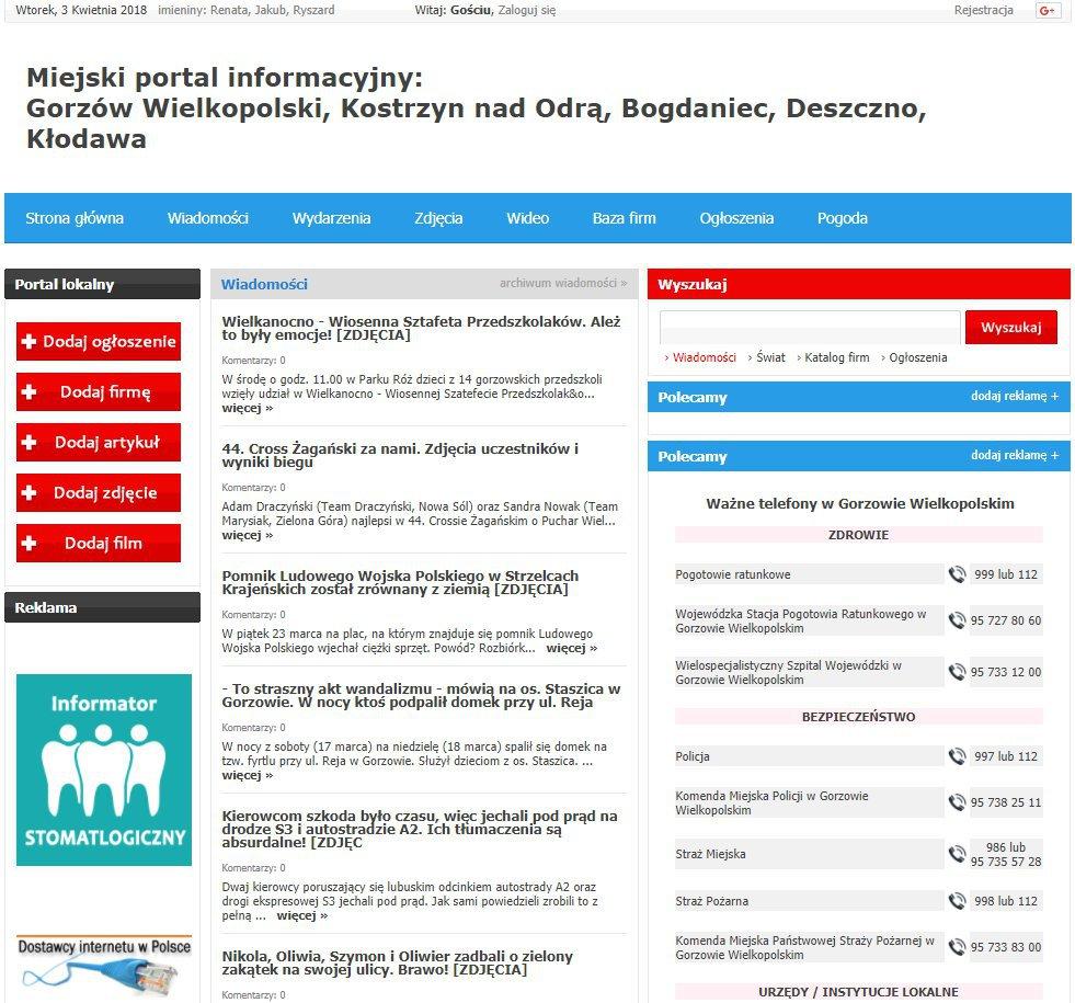 Gorzów Wielkopolski - Informator Lokalny cover