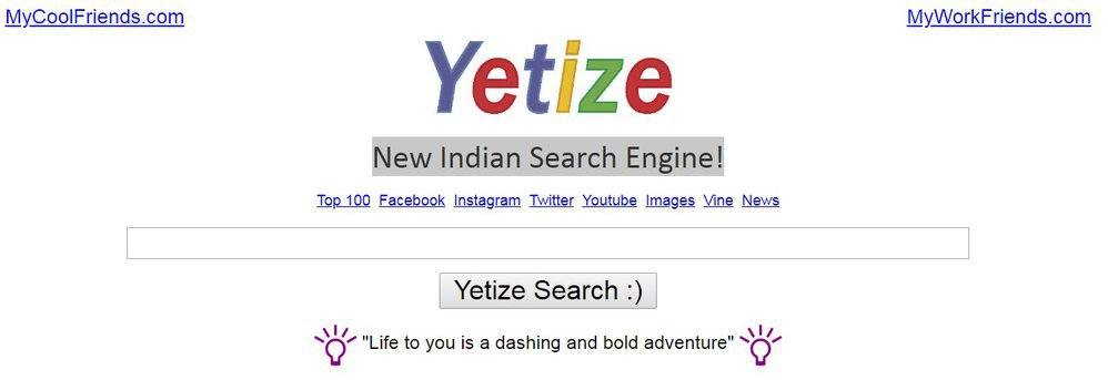 Yetize.com - New Indian Search Engine cover