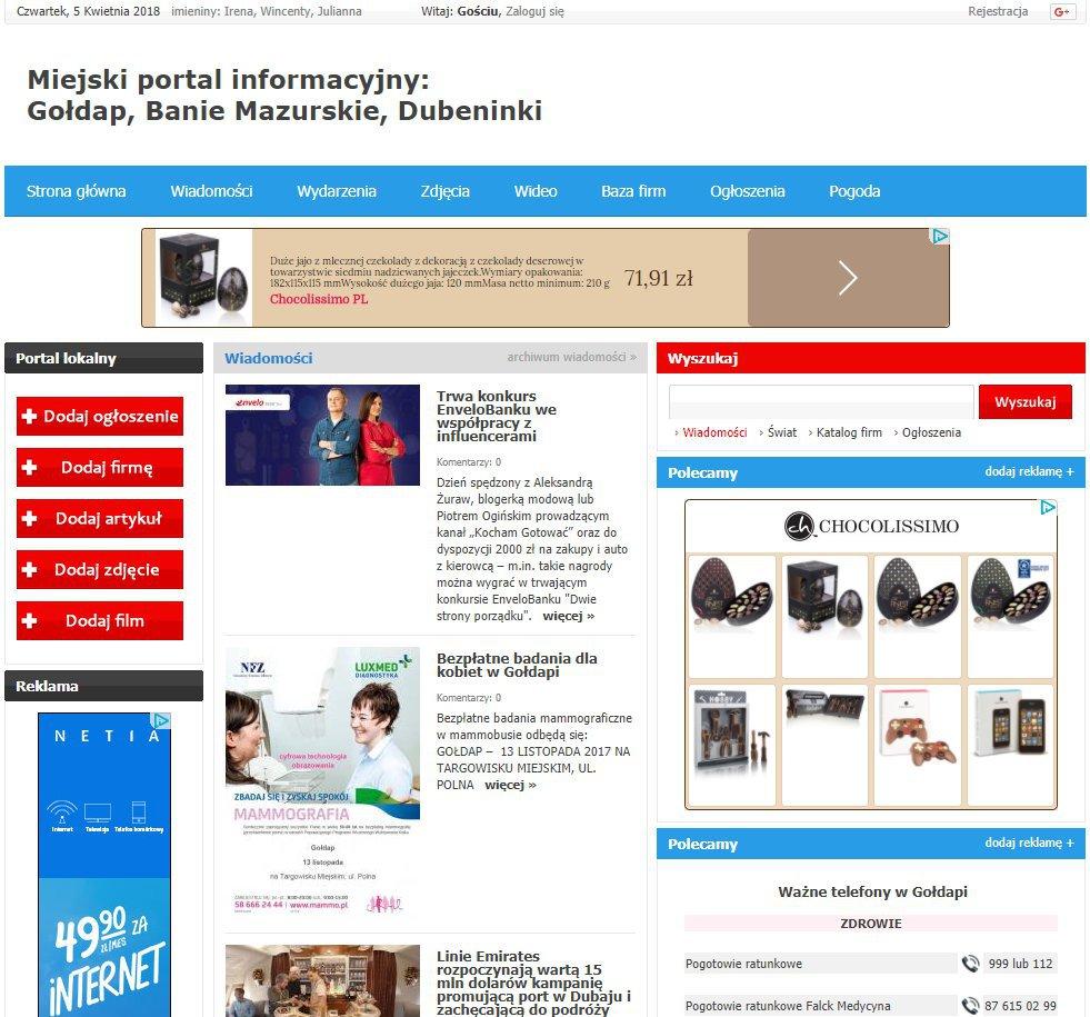 Gołdap - Informator Lokalny cover