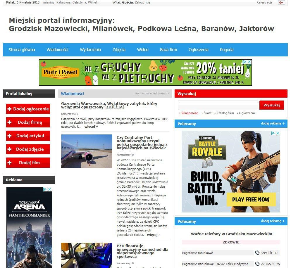 Grodzisk Mazowiecki - Informator Lokalny cover