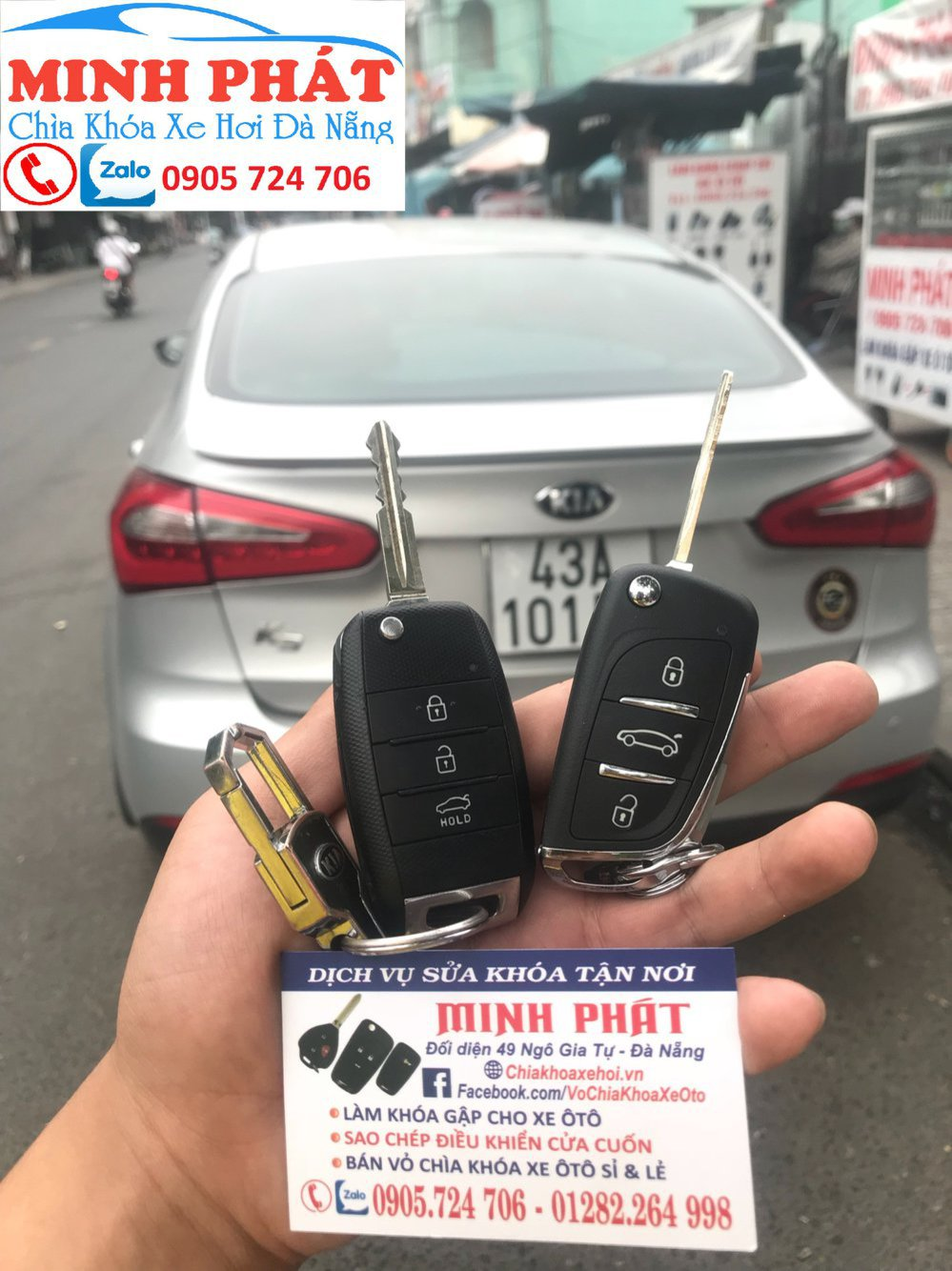 Làm chìa khóa xe ô tô đà nẵng - 0905 724 706 cover