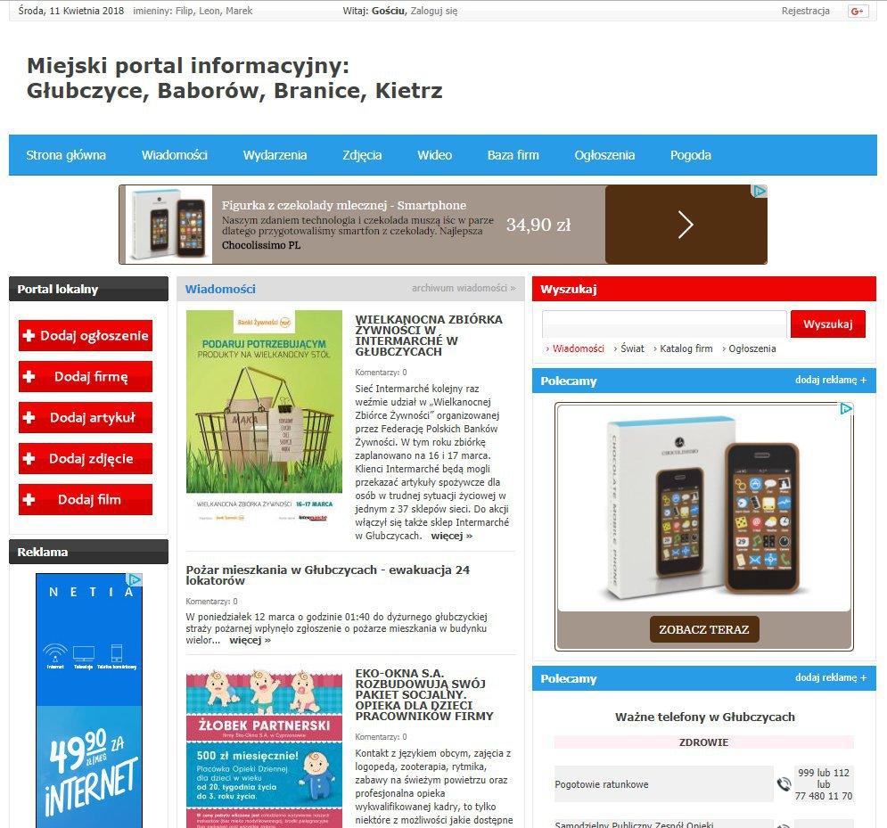 Głubczyce - Informator Lokalny cover