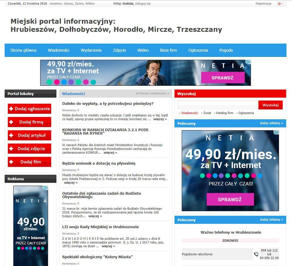 Hrubieszów - Informator Lokalny cover