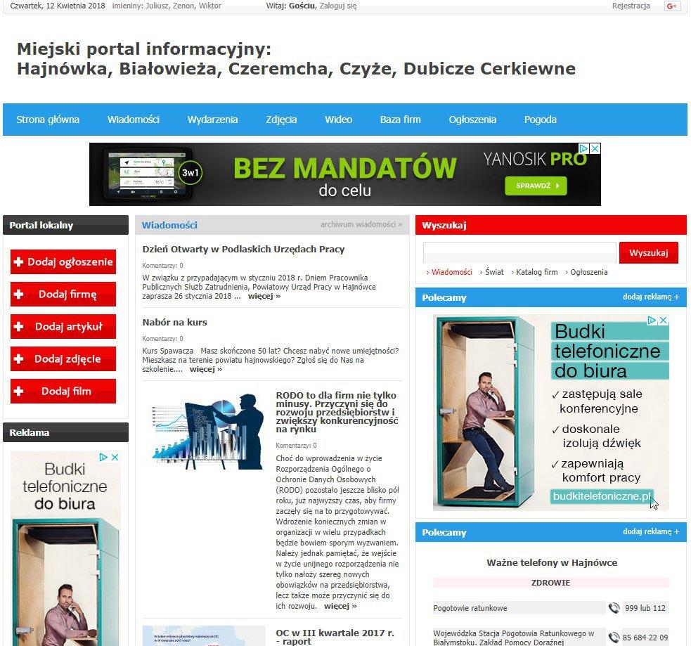 Hajnówka - Informator Lokalny cover
