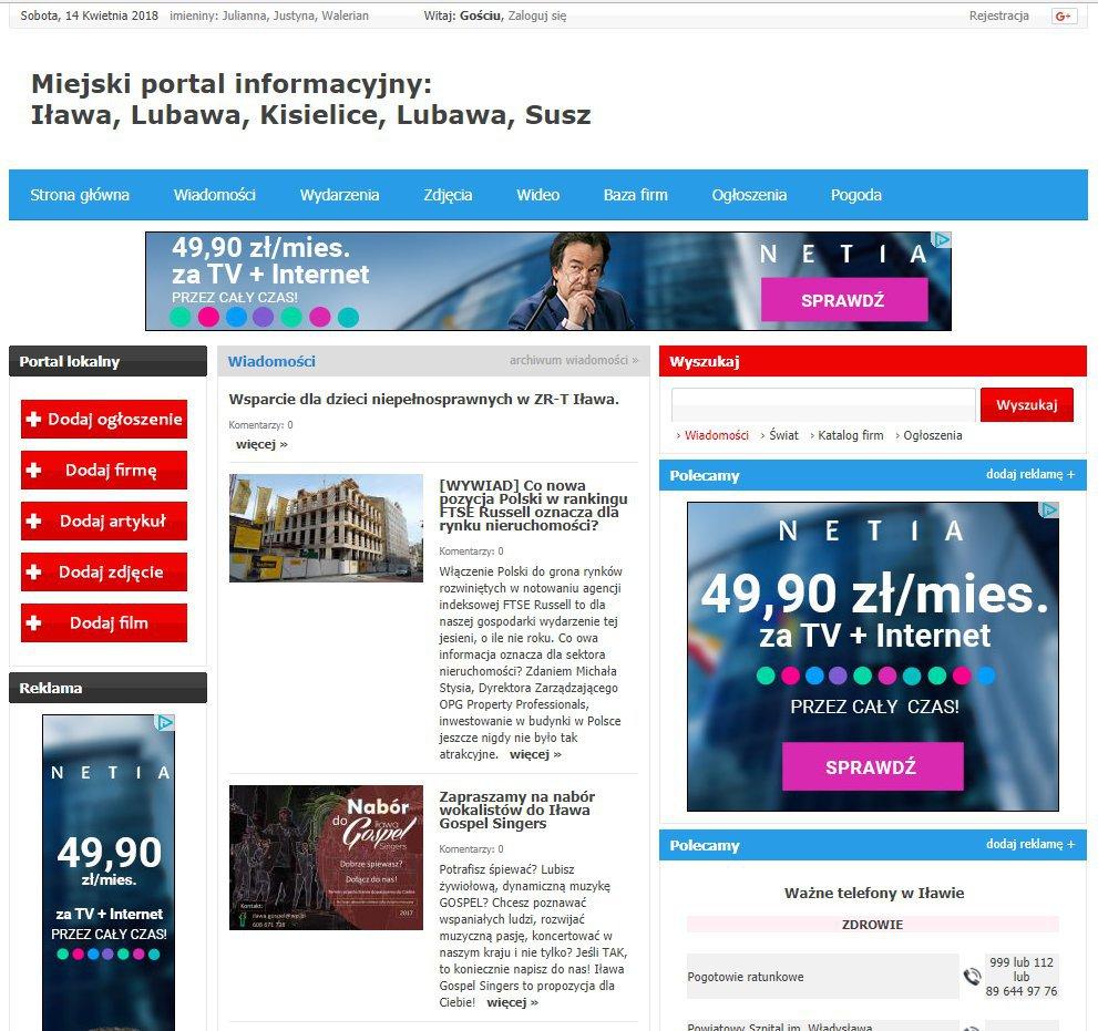 Iława - Informator Lokalny cover