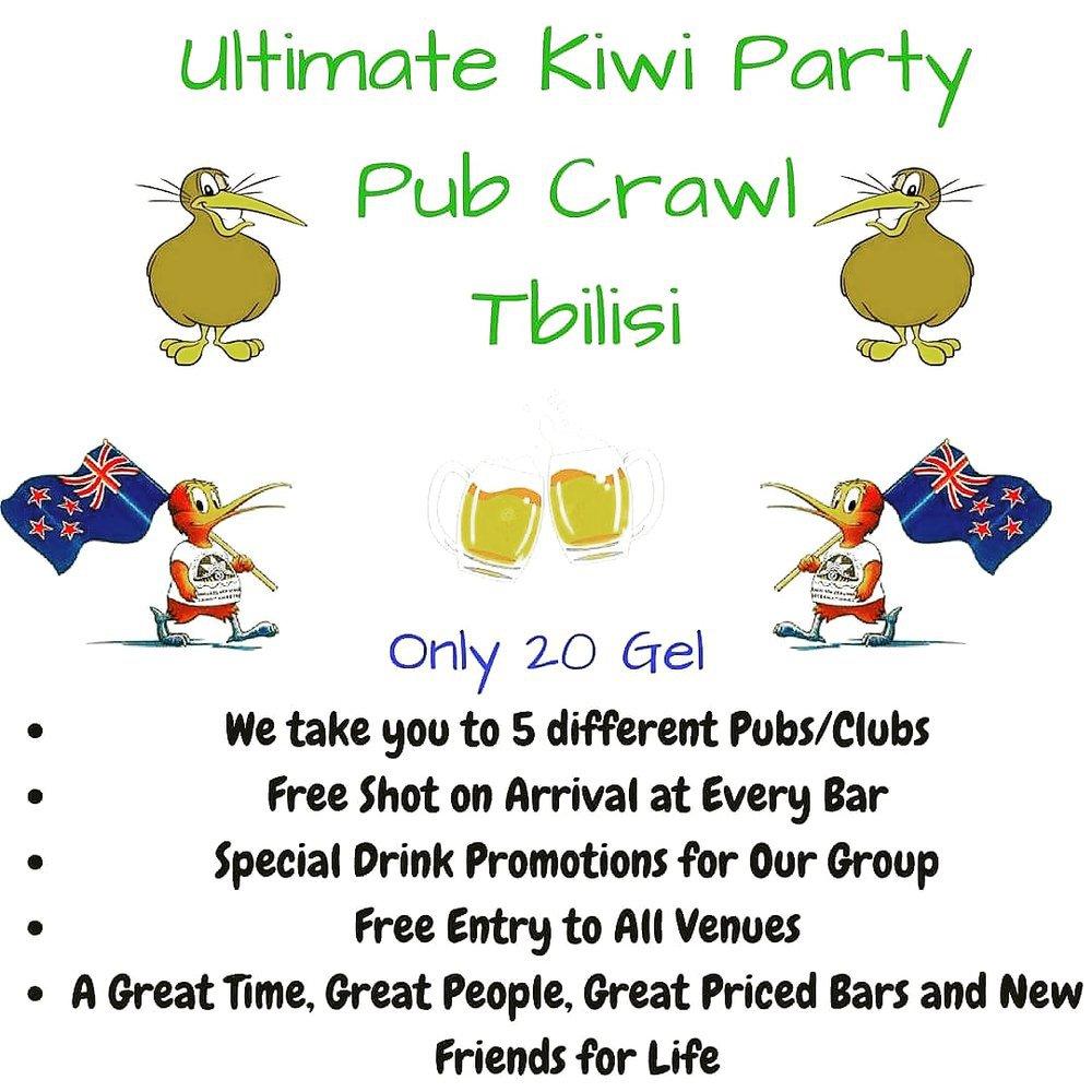 Ultimate Kiwi Party Pub Crawl Tbilisi cover