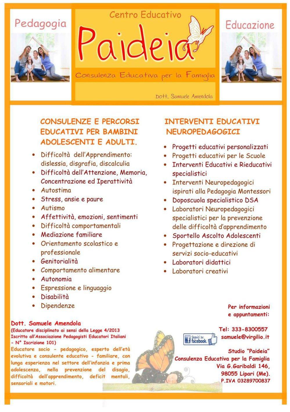 "Centro Educativo ""Paideia"" Lipari  cover"
