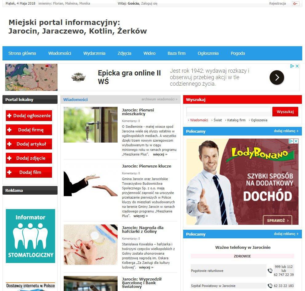 Jarocin - Informator Lokalny cover