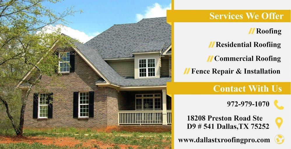 Dallas Tx Roofing Pro cover