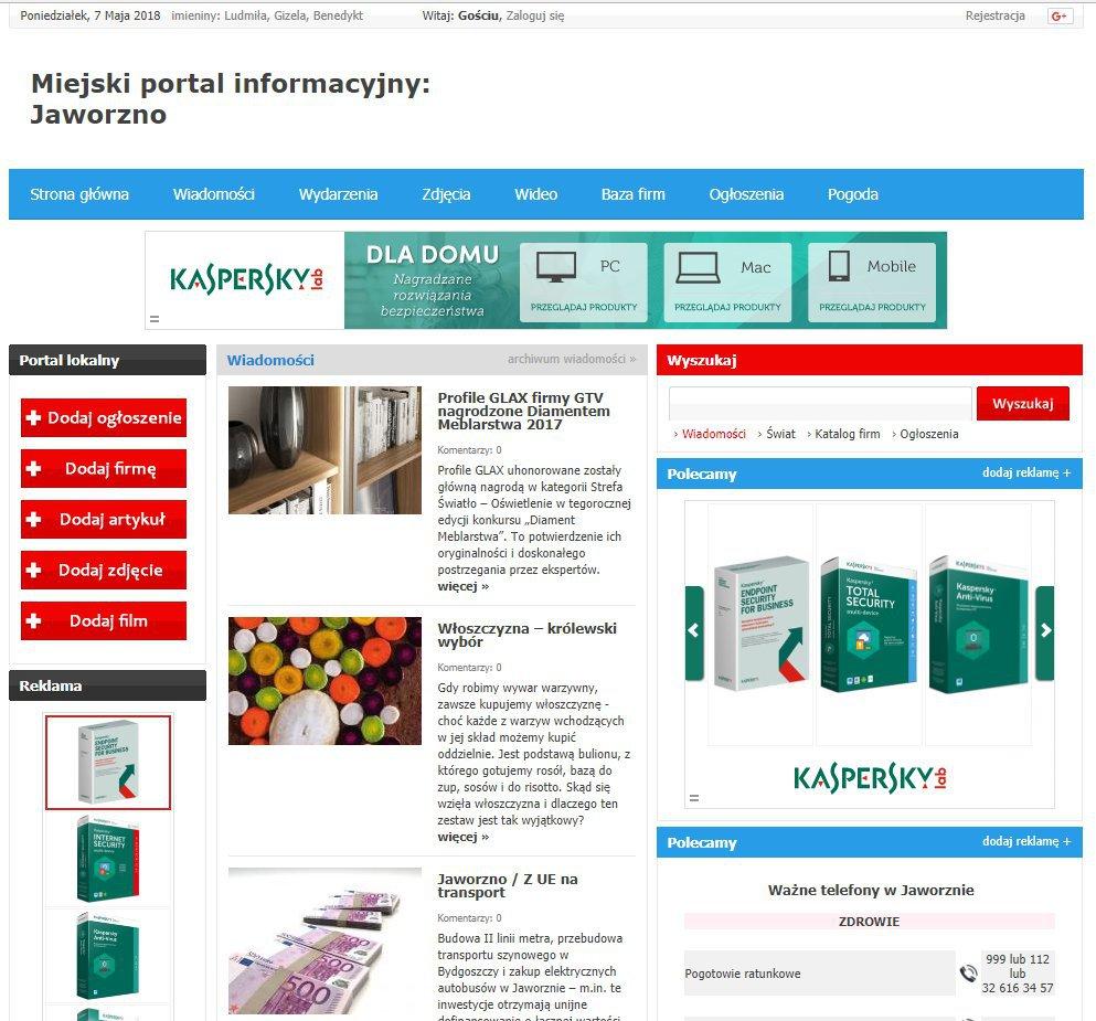 Jaworzno - Informator Lokalny cover