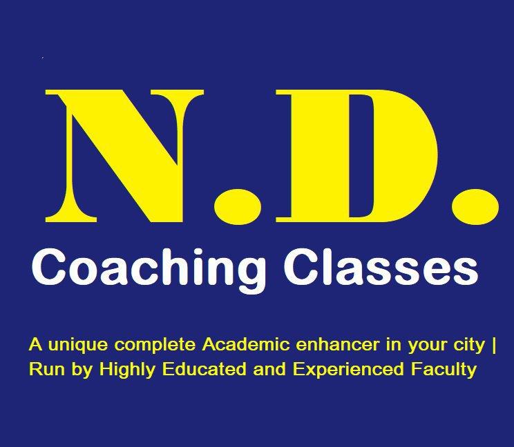 N D COACHING CLASSES cover
