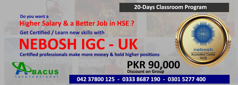 Nebosh IGC Course in Lahore Pakistan cover