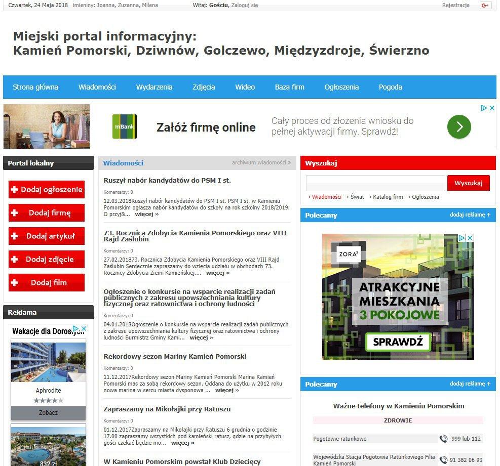 Kamień Pomorski - Informator Lokalny cover
