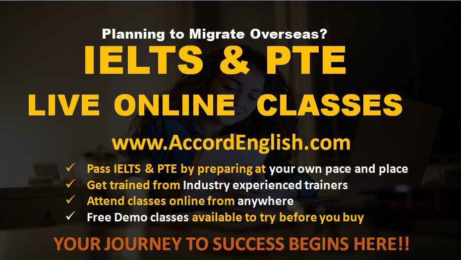 IELTS and PTE LIVE Online Classes cover