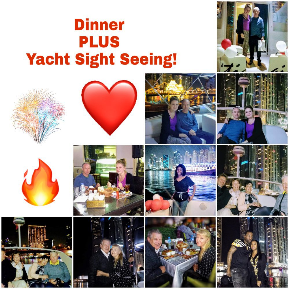 Dinner + Yacht Sight Seeing cover