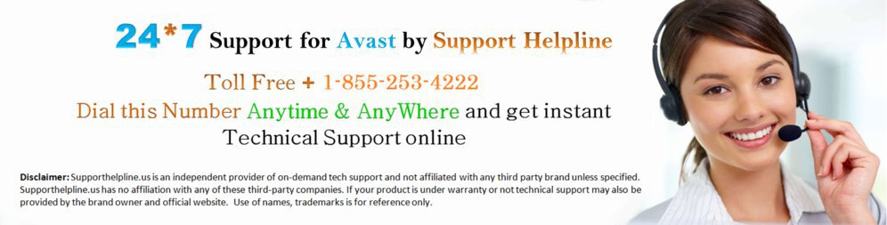 Dial Avast Technical Support Canada 1-855-253-4222 cover