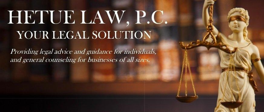 Hetue Law, P.C. - Arik D. Hetue, Attorney at Law cover