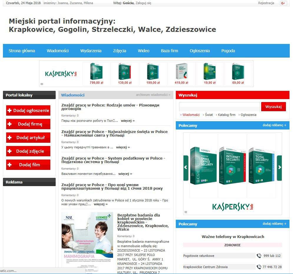 Krapkowice - Informator Lokalny cover
