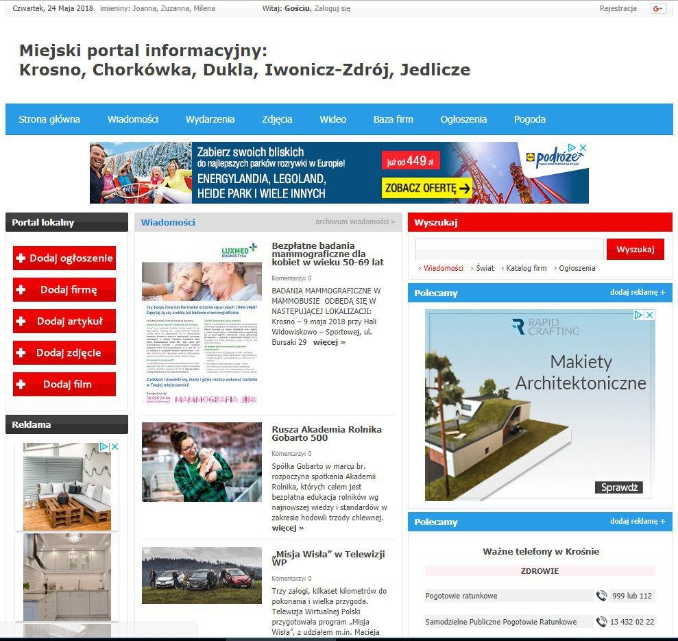 Krosno - Informator Lokalny cover