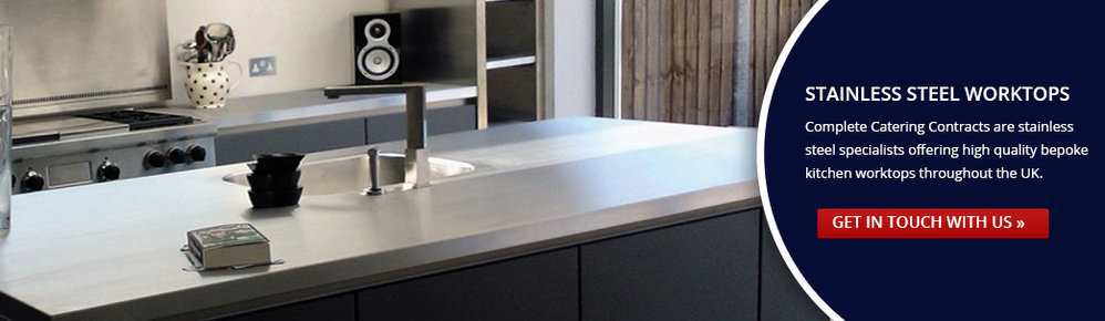 Stainless Steel Worktops - Complete Catering Contracts Ltd cover