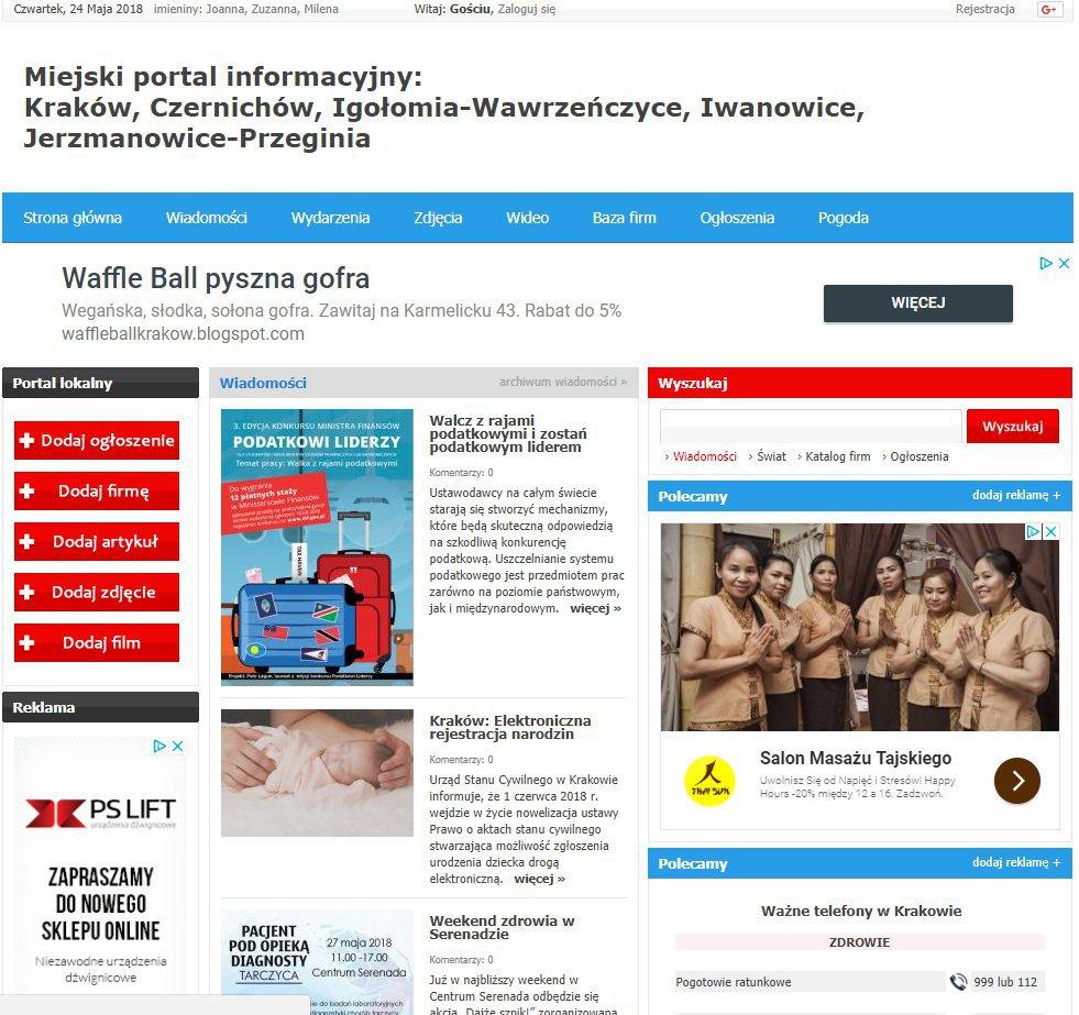 Kraków - Informator Lokalny cover