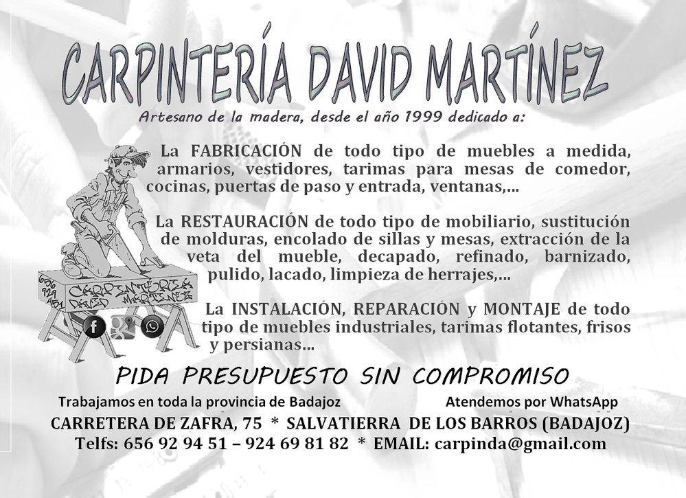 Carpintería David Martínez Ceballos cover