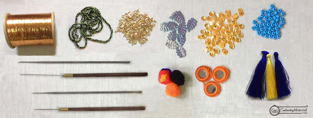 Embroidery material cover
