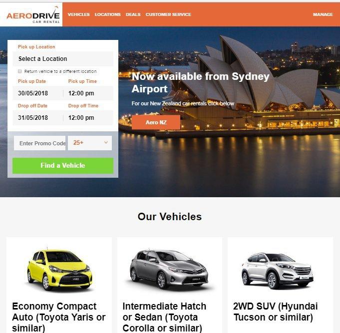 Car Hire Deals in Sydney - Aerodrive Car Rental cover