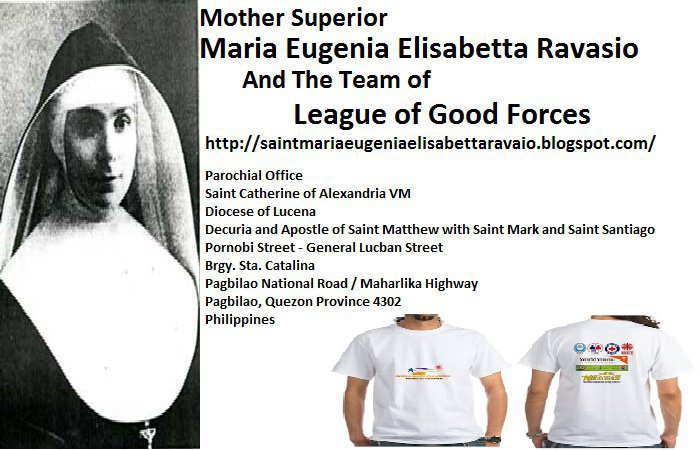 Saint Maria Eugenia Elisabetta Ravasio and Team of The League of Good Forces cover