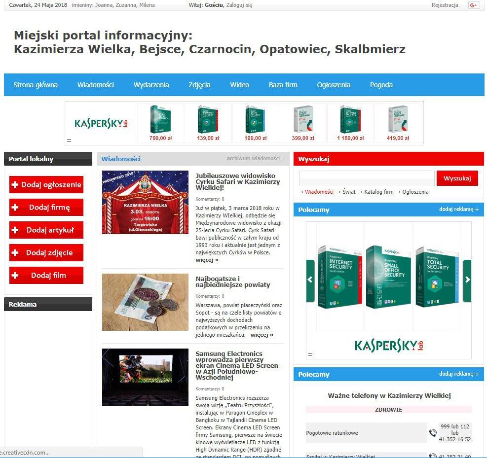 Kazimierza Wielka - Informator Lokalny cover