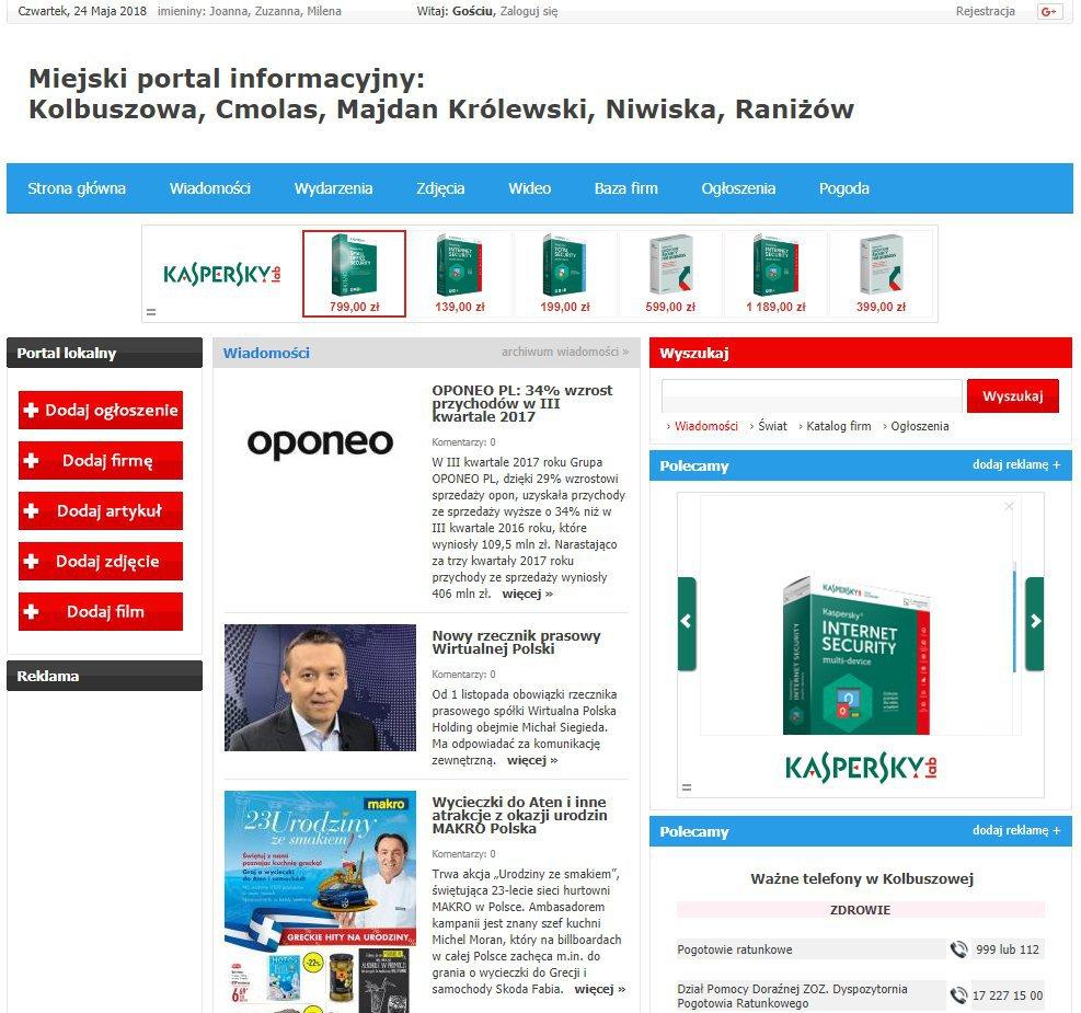 Kolbuszowa - Informator Lokalny cover