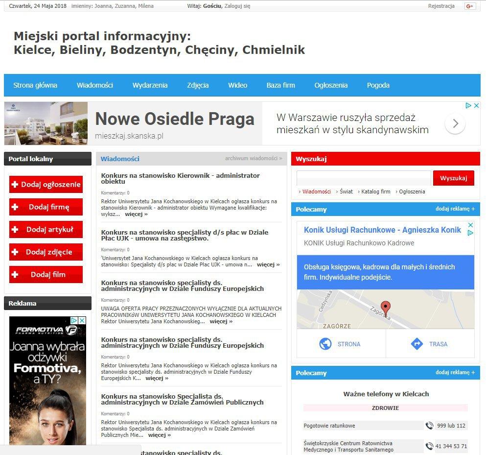 Kielce - Informator Lokalny cover