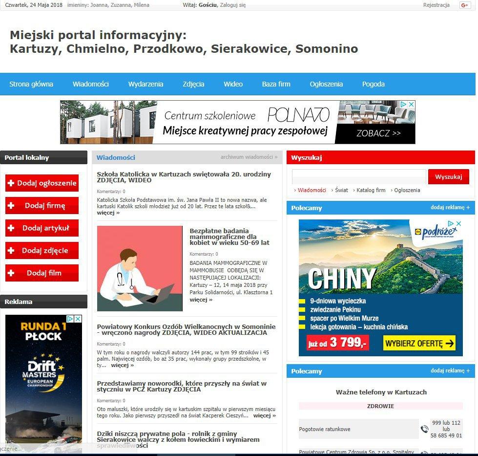 Kartuzy - Informator Lokalny cover