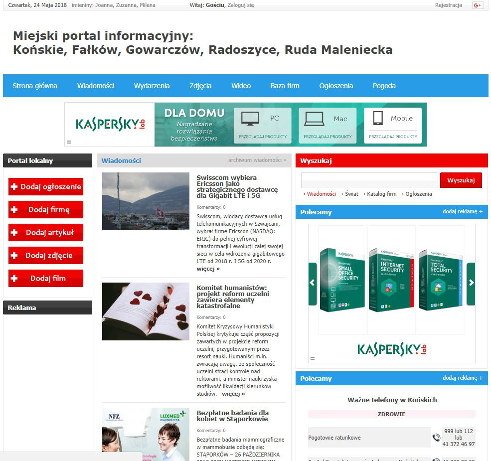 Końskie - Informator Lokalny cover