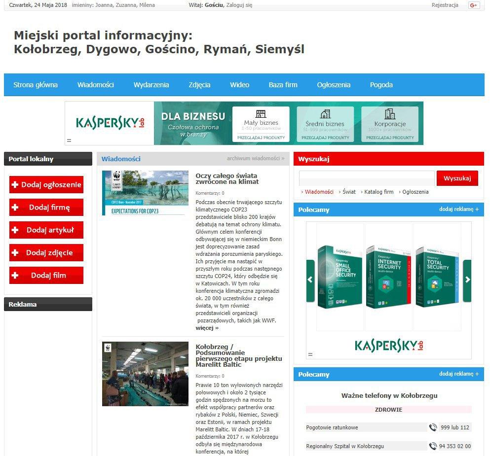 Kołobrzeg - Informator Lokalny cover