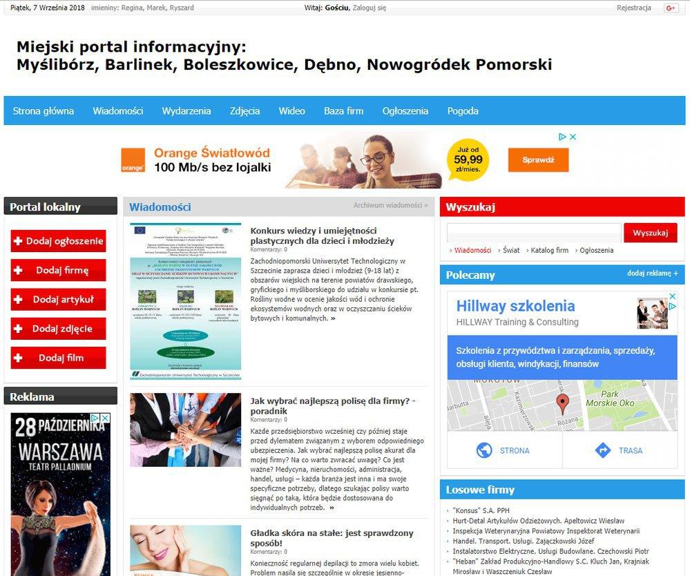 Myślibórz - Informator Lokalny cover