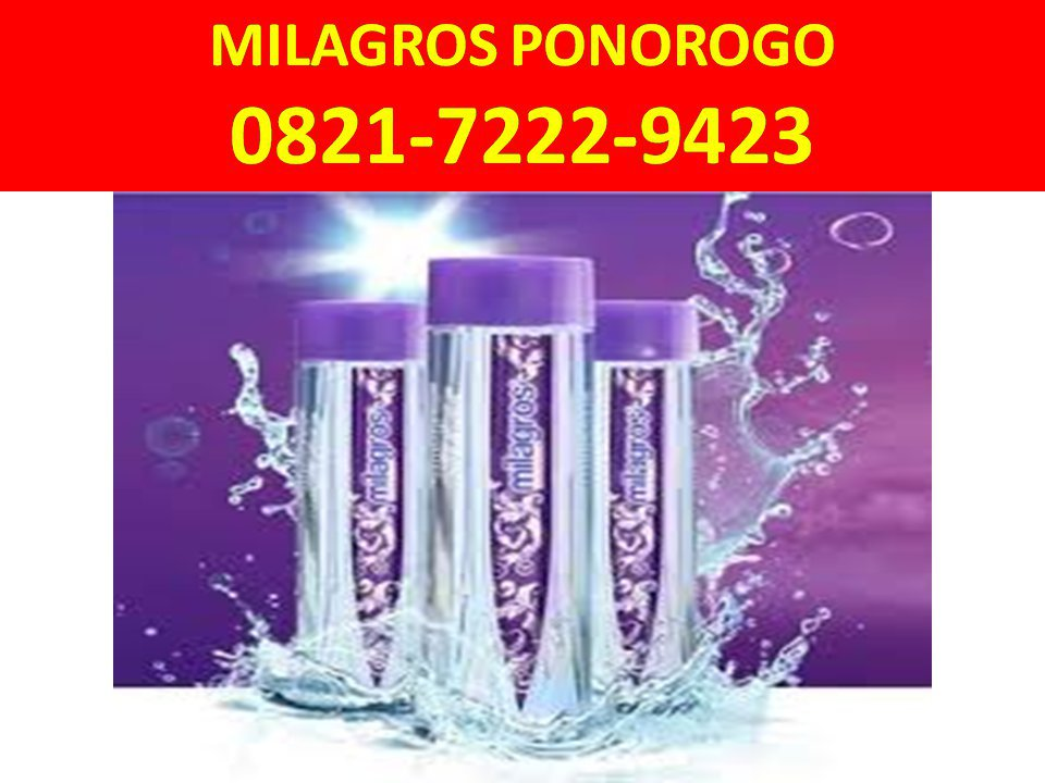HP/WA: 0821-7222-9423 (Tsel), Beli Milagros Ponorogo. cover