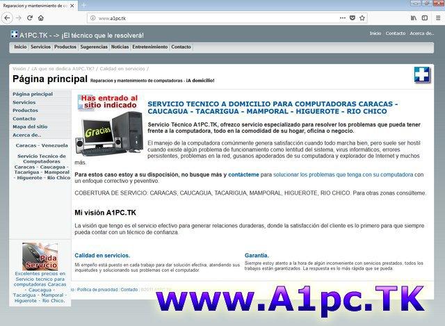A1pc.TK Servicio Tecnico Computadoras Caracas a Domicilio cover