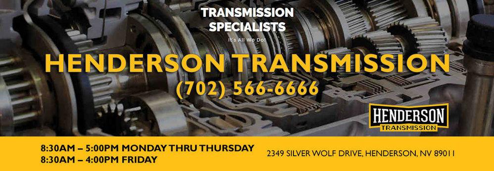 Henderson Transmission cover
