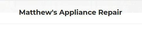 Matthew's Appliance Repair cover