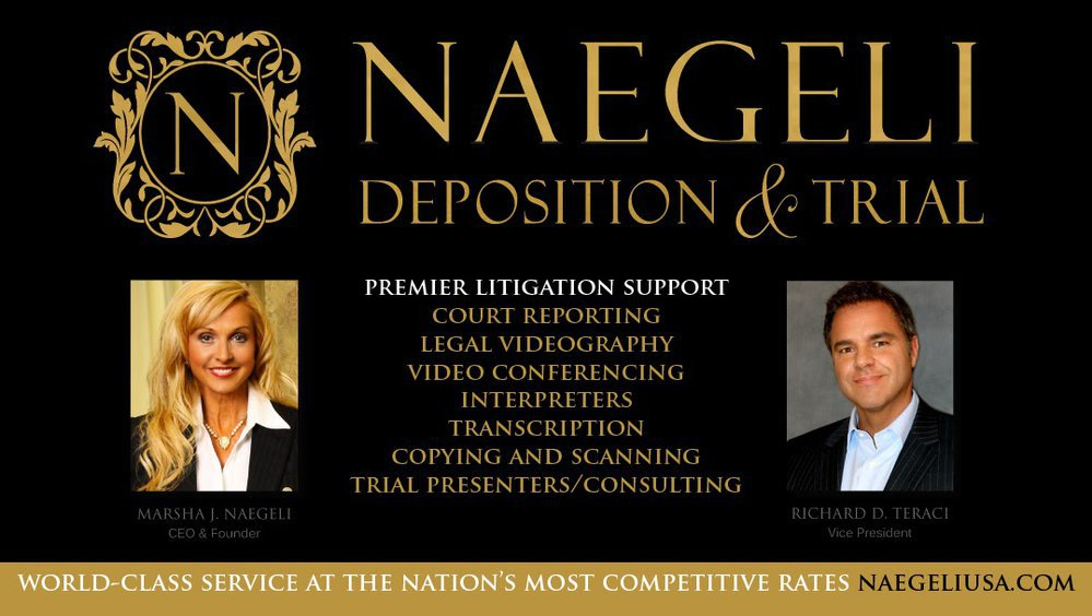 NAEGELI DEPOSITION AND TRIAL cover