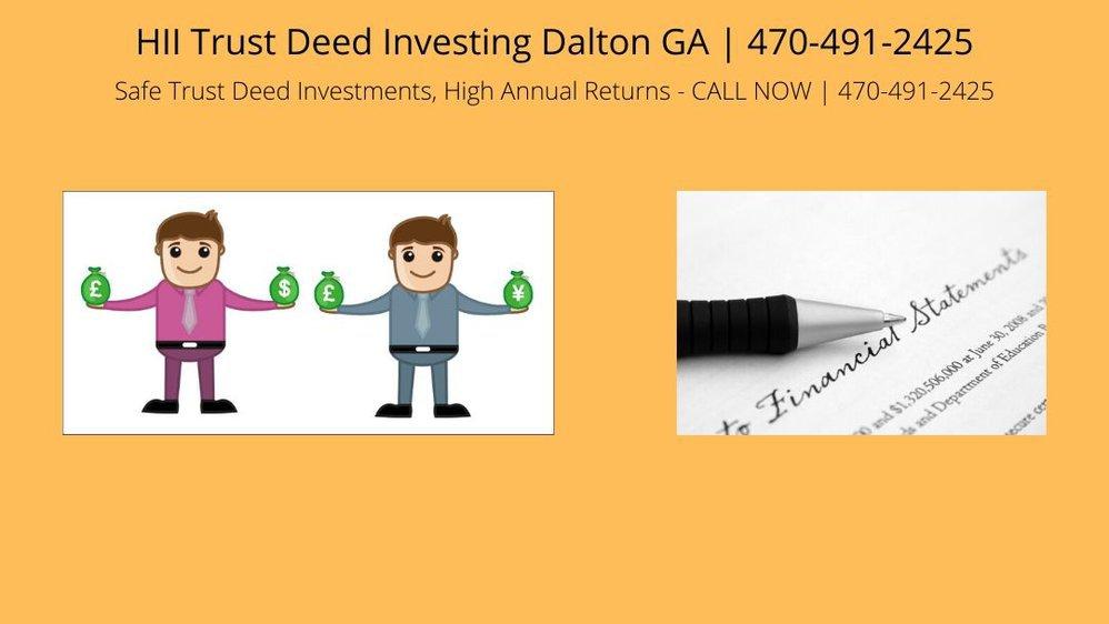 HII Trust Deed Investing Dalton GA cover