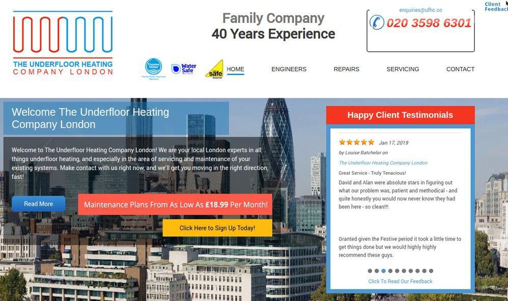 The underfloor heating company London | Repair, maintenance cover