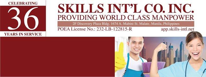 Skills International Company Incorporated cover