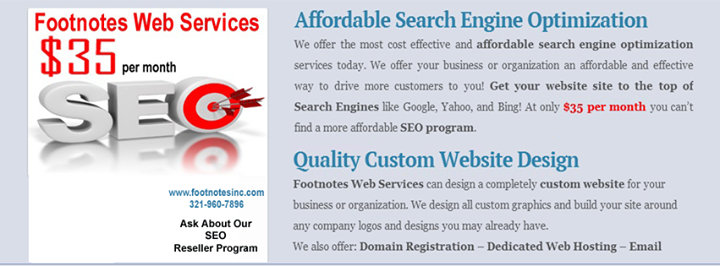 Footnotes Web Services, Design & SEO cover