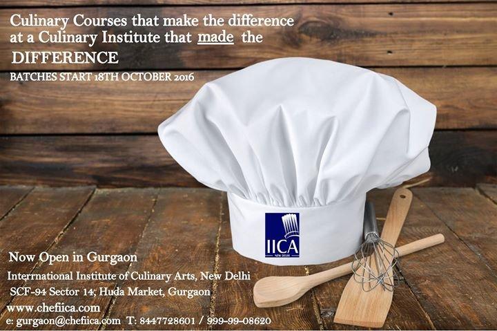 IICA , International Institute of Culinary Arts, New Delhi cover