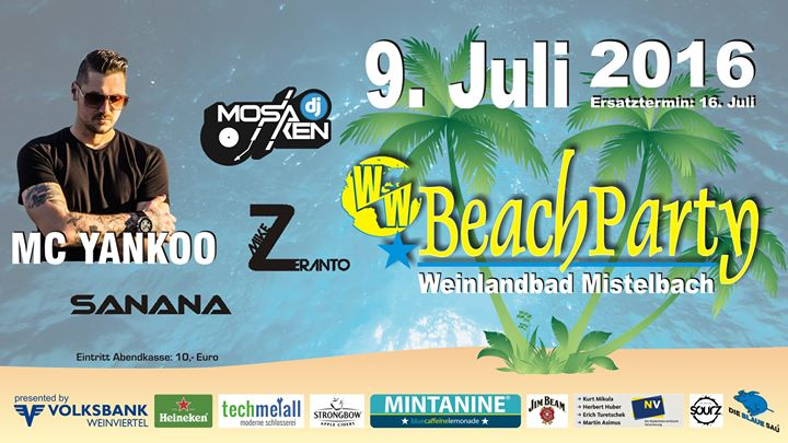 Beach Party Mistelbach Weinlandbad cover