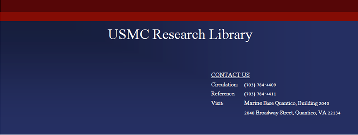 USMC Research Library cover