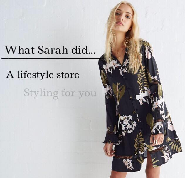 What Sarah did. cover