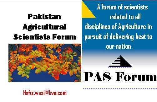 Pakistan Agricultural Scientists Forum cover